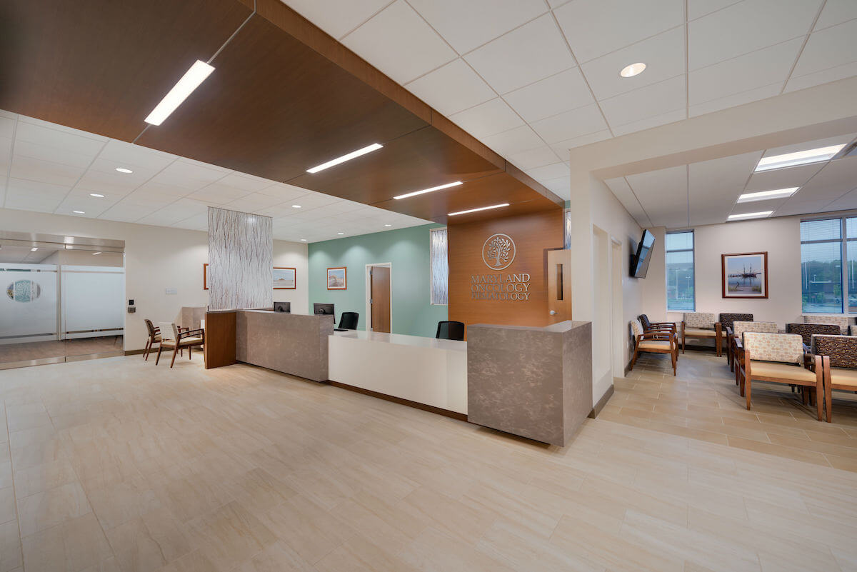 Us Oncology Commercial Interiors Design Frederick Md Bates Architects